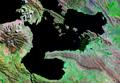 Lago Menor o Huiñamarca Perú Bolivia Satelital map 68.85829W 16.png