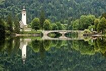 Lake Bohinj with a church.jpg