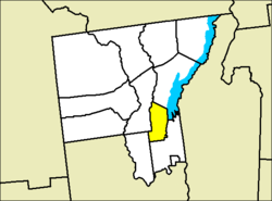Location of Lake George in Warren County