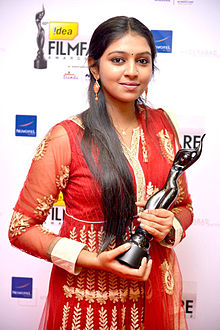 Lakshmi Menon at 60th South Filmfare Awards 2013.jpg