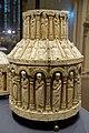 Large tower reliquary, view 2, Köln, 1175-1200 AD, bone, wood, copper, bronze, brown varnish - Hessisches Landesmuseum Darmstadt - Darmstadt, Germany - DSC00350.jpg