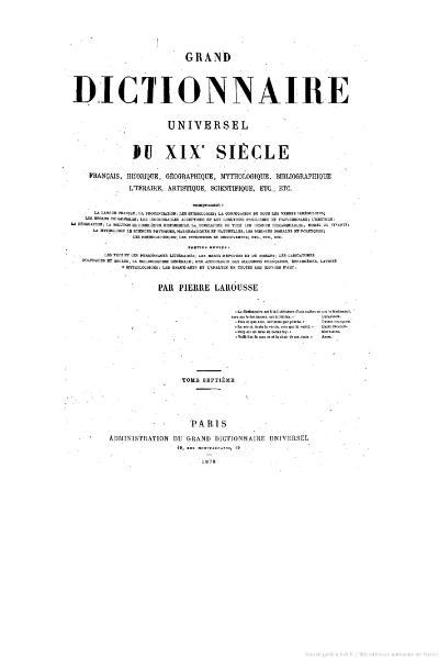File:Larousse - Grand dictionnaire universel du XIXe siècle - Tome 7, part. 3, Erl-Ez.djvu