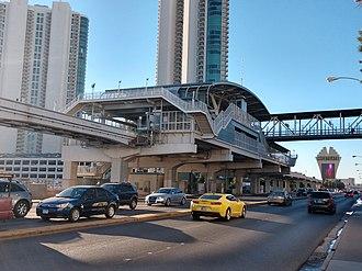 Las Vegas Monorail - Image: Las Vegas Monorail SLS Station