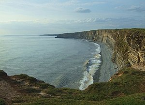 Glamorgan Heritage Coast - View from Nash Point cliff