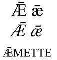 """Latin small and capital letter """"ae"""" ligature with macron.jpg"""