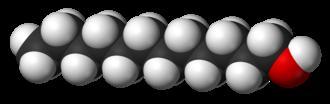 Dodecanol - Image: Lauryl alcohol 3D vd W
