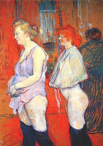 Archivo:Lautrec rue des moulins, the medical inspection 1894.jpg