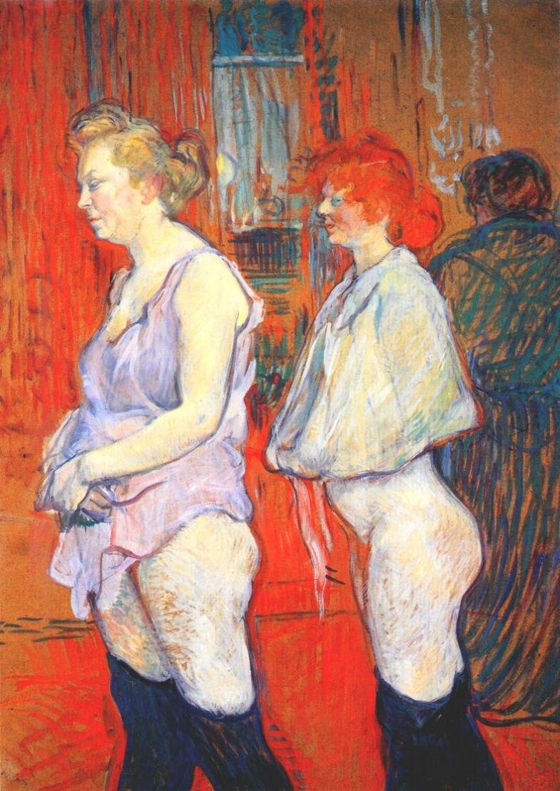 Lautrec rue des moulins, the medical inspection 1894