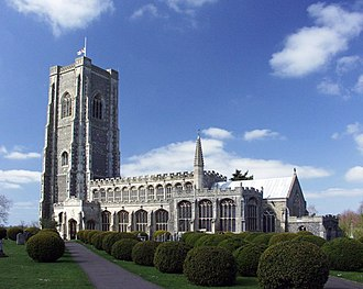 St Peter and St Paul's Church, Lavenham - Image: Lavenham geograph.org.uk 4044