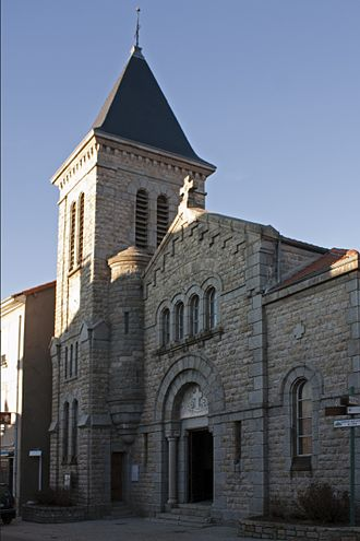 Le Bessat - The church in Le Bessat