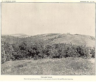 Leaf Hills Moraines - Photograph c. 1895 of Leaf Hills in west-central Minnesota