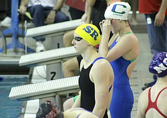 Katie Ledecky - Ledecky before her last individual high school race