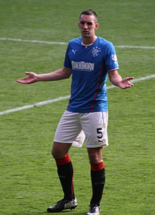 Lee Wallace (actor) Wallace playing for Rangers in