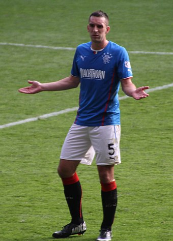 Wallace playing for Rangers in 2013 Lee Wallace.jpg