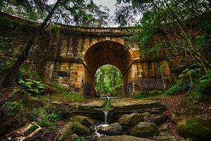 Lennox Bridge, Blaxland - The oldest surviving stone arch bridge on the Australian mainland