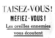 Cinquième colonne Les oreilles ennemies 1915 - Domaine public - Agence de presse Meurisse - Bibliothèque nationale de France