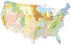 Southwestern Tablelands - Image: Level III ecoregions, United States