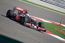 Lewis alla guida della sua McLaren al GP di Turchia 2009.