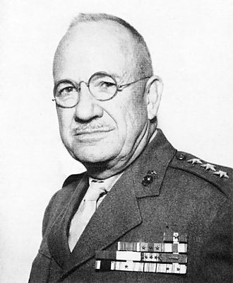 Planning for the Battle of Iwo Jima - Holland Smith, commander of the assaulting U.S. forces