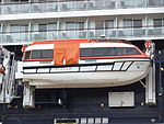 Lifeboat on Celebrity Infinity ship at Liverpool.JPG