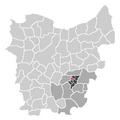 Ligging van Ottergem in Oost-Vlaanderen.png