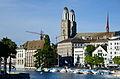 Limmatquai - Wasserkirche - Grossmünster - Limmat - Quaibrücke 2013-09-21 16-52-26.JPG