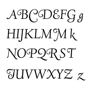 "Deepdene (typeface) - The swash capitals and lower-case 'g', 'k' and 'z' of the open-source ""Linden Hill"" font, based on Goudy's Deepdene and created by Barry Schwarz."