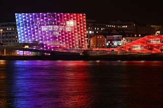 Ars Electronica - Night view of the Center