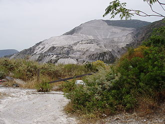 Lipari - A pumice mine just east of Acquacalda.