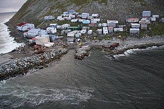 Little Diomede Island - The native Inupiat village of Diomede/Inalik on Little Diomede Island.