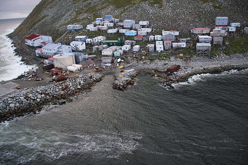 File:Little Diomede Island village.jpeg
