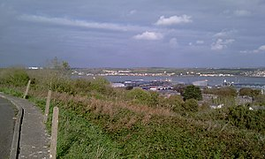 Pembroke Dockyard - The former Dockyard viewed from the Defensible Barracks