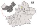 Location of Karamay Prefecture within Xinjiang (China).png