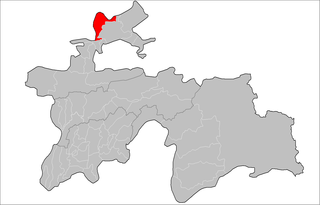 Location of Mastchoh District in Tajikistan