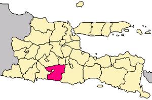 Blitar Regency - Image: Locator kabupaten blitar