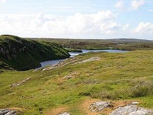 Benbecula - View over Loch Langabhat