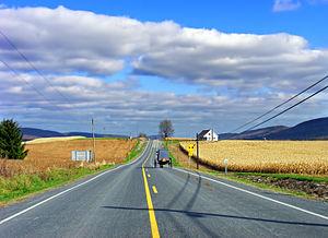 Logan Township, Clinton County, Pennsylvania - Pennsylvania Route 880 in Logan Township