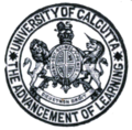 Logo of Calcutta University - a diagram in The History of the Bengali Language.png