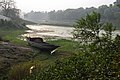 Lone Boat on Riverbank Churni - Halalpur Krishnapur - Nadia 2016-01-17 9053.JPG