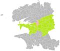 Lopérac (Finistère) dans son Arrondissement.png