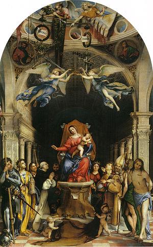 Martinengo Altarpiece - Image: Lorenzo Lotto 012