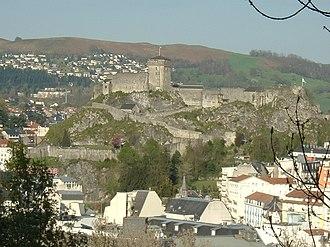 Château fort de Lourdes - View from south-west