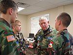 Lt. Col. James Card, Georgia Wing Civil Air Patrol, mentors with young cadets.JPG