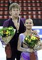 Lubov Iliushechkina & Nodari Maisuradze Podium 2009 Junior Worlds.jpg