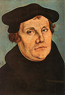 Lucas Cranach (I) workshop - Martin Luther (Uffizi)