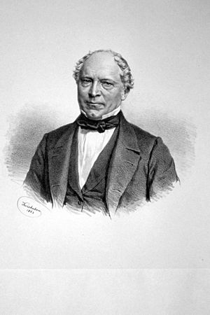 Ludwig Förster - Ludwig von Förster Lithography by Josef Kriehuber, 1863