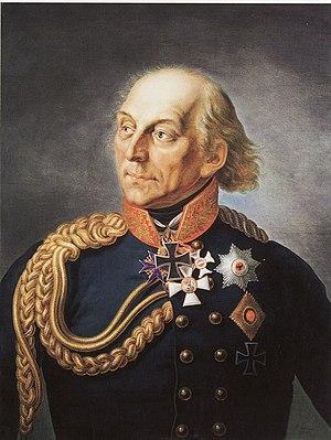 Ludwig Yorck von Wartenburg - Portrait by Ernst Gebauer, 1835