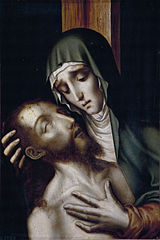 Triptych of the Pietà, St John and St Mary Magdalene