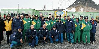 Brazilian Antarctica - Former President of Brazil Luiz Inácio Lula da Silva during a visit to the Ferraz Station.