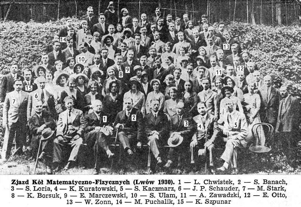 Ecole de mathématiques de Lwow en 1930 dont le QG fût le café ecossais (Kawiarnia Szkocka).